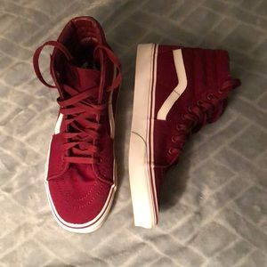 Maroon Hightop Vans